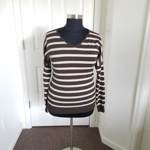 Pixley Brown and white striped Very soft Sweater